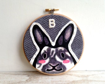 Custom Rabbit Portrait - Custom Pet Portrait - Custom Portraits -Bunny Rabbit - Rabbit Portrait - Pet Portrait