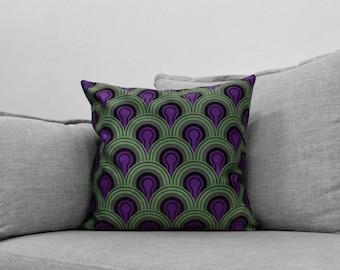 """the shining - 18"""" velveteen pillow cases - overlook hotel // carpet patterns - room 237"""