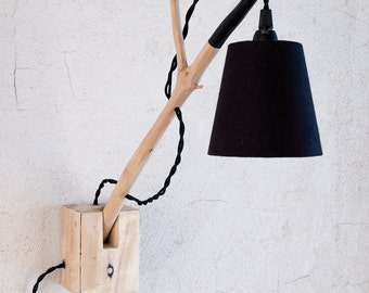 Natural Branched  Wall Light, Cottage chic style, wall light, Handmade pallet lamp, wall sconce, home decoration, wall mounted, Cottage chic