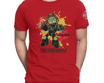 G-Shock Green Tech Robot Custom Design Men's Graphic Cotton T-Shirt