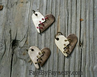 How do you mend a broken heart? Articulated Heart Pendant / Necklace in Bronze - Handmade by Me!