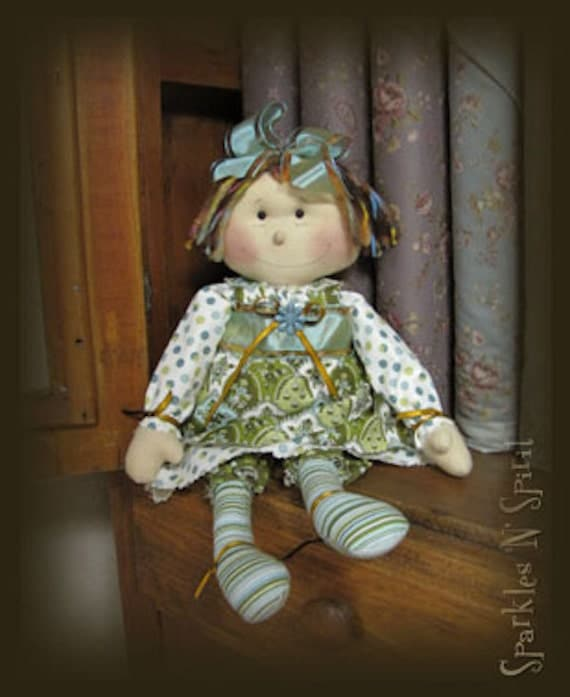 "Pattern: Peggy - 16"" Retro Raggedy Doll"