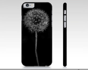 Dandelion iPhone Case For iPhone 6 and iPhone 6s, Black And White Dandelion Art Case For iPhone 6, Nature Art Phone Case, iPhone 6,
