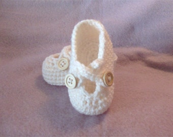 Crochet Baby Shoe Booties with Cross Over Straps - Custom - MADE TO ORDER