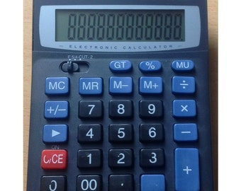 Busicom BS-3312 Dual Power 12-digit Desk Calculator