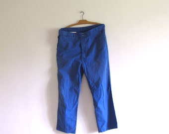 VTG Adolphe Lafont French Indigo blue chore Work cotton men pants trousers