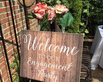 Welcome Wedding Sign - Rustic Welcome Sign - Wood Welcome Sign - Custom Wedding Sign