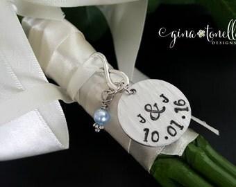 Wedding Bouquet Charm, Something Blue Charm, Bridal Bouquet Charm, Bridal Shower Gift, Bouquet Charms Wedding, Bouquet Jewelry
