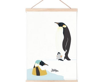 Poster - penguin | children - nursery | 50x70cm - 19,7 x 27,5 inches