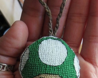 Mario Mushroom Toadstool Charm for Keychain, Bags, Backpacks, Purses, and/or Zippers