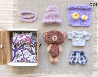 Soft Animal - Plush Bear - Toy with clothes - Dress up Toy - Toy Play Set - Stuffed Teddy Bear - Dolls and Miniatures - Stuffed gift