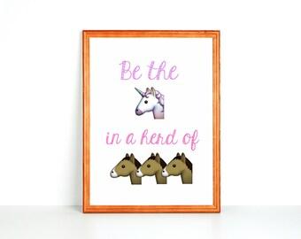 Kid Printable: Be The Unicorn