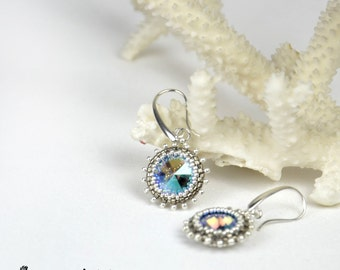 Valentine gift for her Fashion gifts for sister Dainty earrings Swarovski crystal earrings Crystal drop earrings beaded dangle earrings