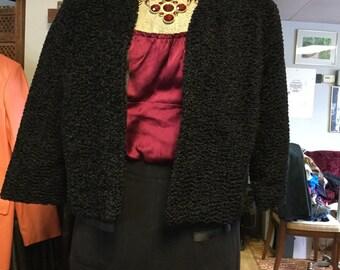 Vintage Faux Fur Evening Jacket