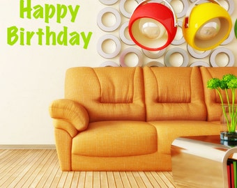 Happy Birthday Celebration Party Vinyl Wall Decoration for Parties Events