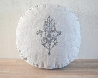 Organic linen meditation cushion, COVER ONLY, meditation cushion, zafu, organic zafu, yoga products, round floor pillow, zafu cushion