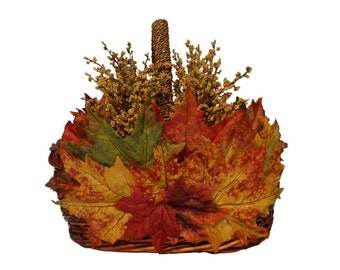 Autumn Harvest Basket • Centerpiece • Autumn Decor