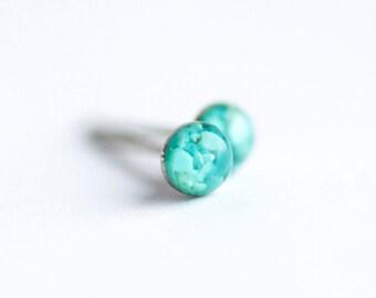 FREE SHIPPING // Sleeping Beauty Turquoise Earrings // Stud Earrings // Turquoise Studs // Turquoise Stud Earrings // Turquoise Earrings