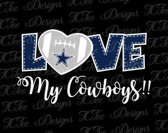 Love My Cowboys - Football SVG File - Vector Design Download - Cut File