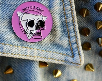 """LIMITED EDITION """"Death is a Plague"""" Enamel Pin"""