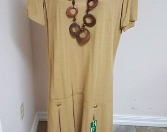 Vintage Drop Waist Joan Curtis Dress
