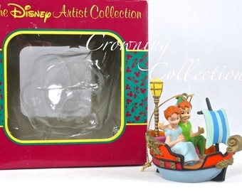Disney Peter Pan's Flight Ornament Wendy Ride Artist Collection Pirate Ship Boat Parks Series Walt Disney World Vintage Christmas DisneyLand