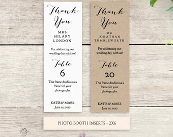 Photo booth inserts Printable Wedding photo frame 2x6, instant download template, DIY wedding printable, Sweet Bomb
