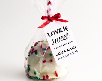 Editable PDF Template ~ SMALL ~ DIY Printable Favor Tags ~ Gift Tags ~ Wedding Tags ~ Love is Sweet