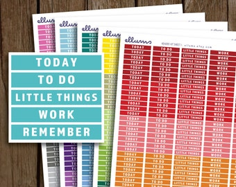 Daily Headers Planner Stickers   PRINTABLE Instant Download   MDN Header Planner Sticker   fits Erin Condren or Happy Planner   Remember