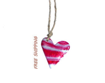 polymer clay pendant necklace