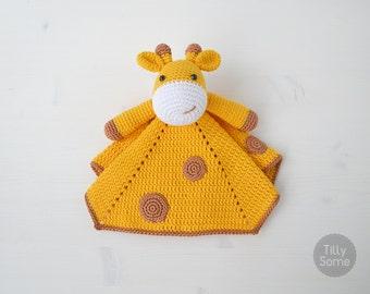 Cute Giraffe Lovey Pattern | Security Blanket | Crochet Lovey | Baby Lovey Toy Pattern Crochet Blanket Toy Lovey Blanket PDF Crochet Pattern