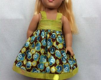 American Girl Doll Clothing - Pansy sundress