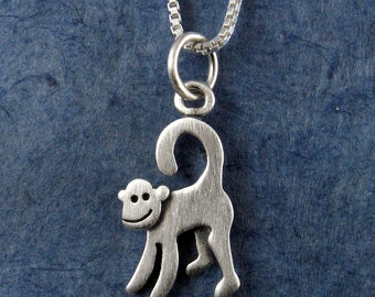 Tiny monkey necklace / pendant