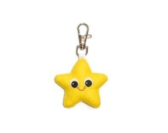 Star Keychain - Star Charm - Cute Keychain - Bag Charm - Star Keyring - Starfish Gift - Kawaii Keychain - Cute Charm