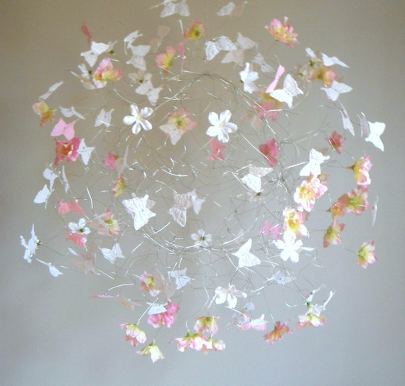 Baby Mobile, Baby Girl Mobiles, Butterfly Decor for Nursery, Baby Crib Mobiles, Pink Nursery Ideas