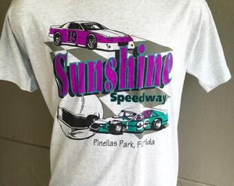 Sunshine Speedway 1996 race car vintage tee shirt - Pinellas Park Florida