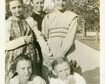 """Vintage Photo """"School Relationships"""" Teenage Teen Boy Girl Children Best Friends Friendship Snapshot Found Paper Ephemera Vernacular - 136"""