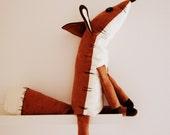 Pdf sewing pattern Fox Stuffed Animal -Fox plush toy pattern, FREE SHIPPING