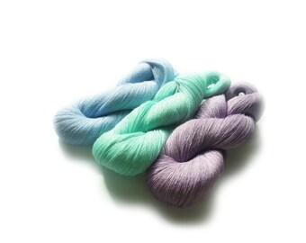 Hanks of natural Linen yarn 300gr pure linen thin yarn weaving art work yarn