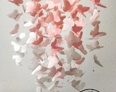 Medium Vellum Butterfly Mobile - OMBRE - Blush Pink and White