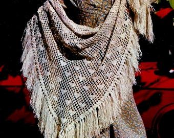 Crochet Heart Shawl Vintage Crochet Pattern Instant Download