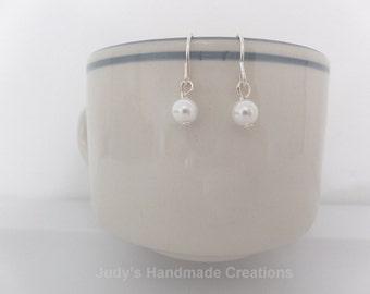 Faux Pearl Earrings, Pearl Dangle Earrings,  White Earrings, Beaded Pearl  Earrings, Women Earrings, Popular Earrings