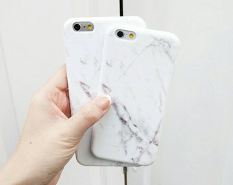 Wrap Around Pattern White Marble Phone Case Protective Bendy Silicone For IPhone 7 7 plus 6 6s 5 5s and IPhone 6 Plus