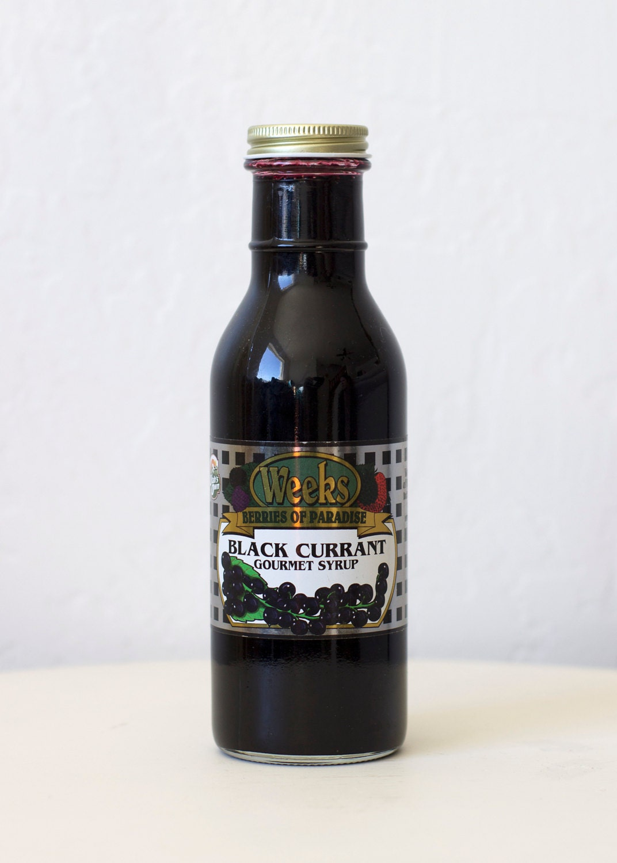All Natural, Organic, Gourmet Black Currant Syrup - Utah's Own