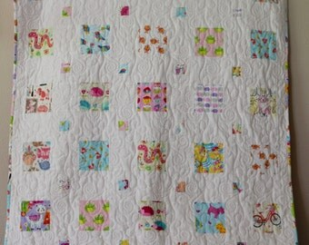 Baby Girl, Patchwork Quilt, I-SPY, Find-My-Match