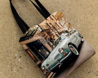 VW Karmann Ghia Tote Bag, Volkswagen Purse, 15x15 Karmann Ghia Bag, New York Street Tote Bag, NYC Bag Gift, VW Gift, 15x15 Photo Tote Bag