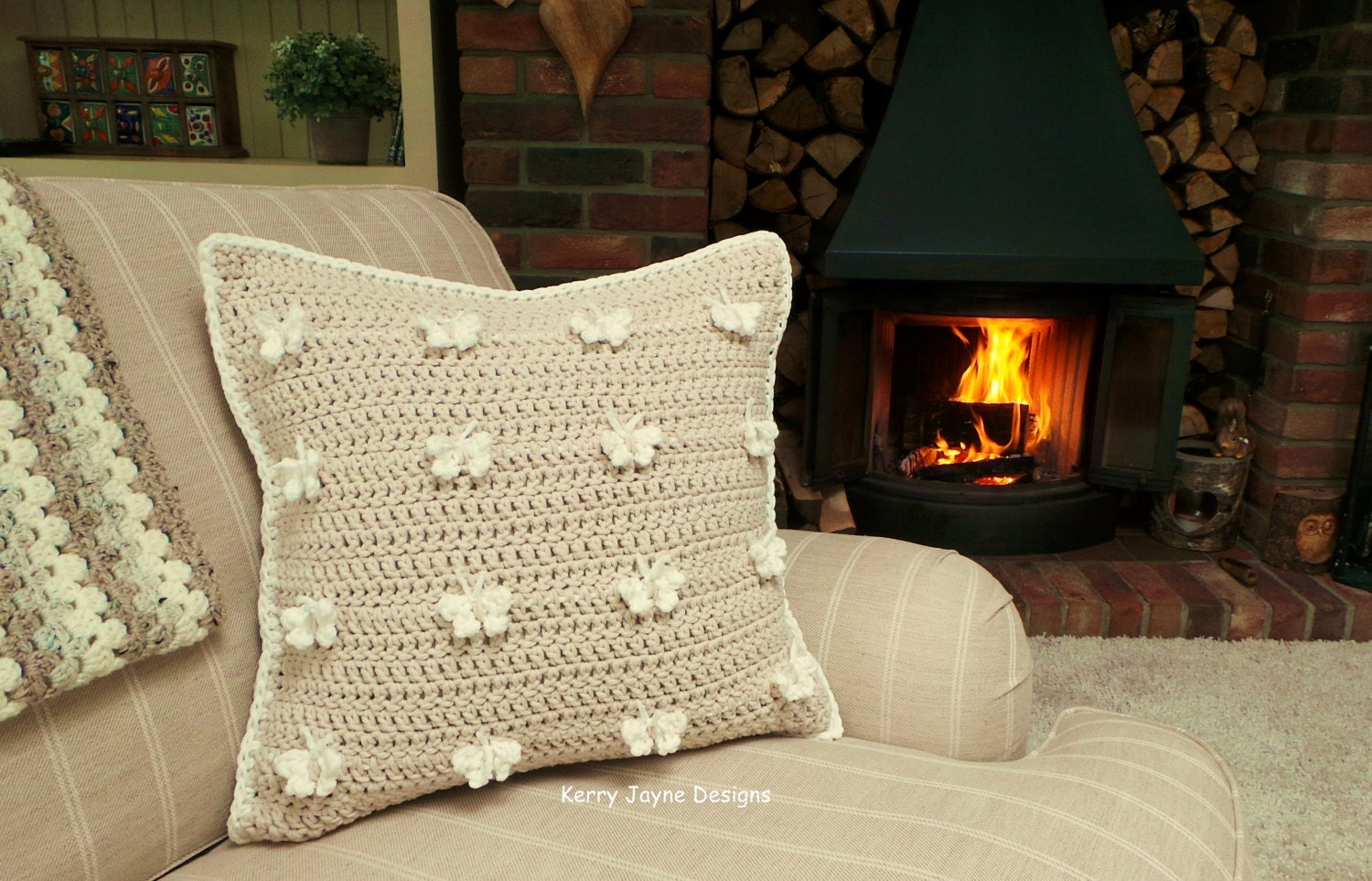 Crochet Cushion Pattern Butterfly Cushion Crochet Pattern