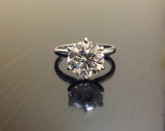 GIA Diamond Engagement Ring - 14K Gold Soliatire Diamond Wedding Ring - Solitaire Diamond Ring - GIA Diamond Ring - GIA Certified Diamond