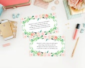 Instant Download - Delicate Bouquet Baby Book Request Insert