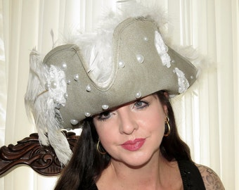 CAPTAIN PEARL Lady Pirate Style Headdress Hair Adornment (Larger)